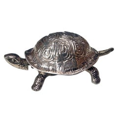 Rare SilverTortoise Turtle Bell . Chester 1912, GREY & Co