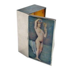 Very Fine Antique Erotic Enamel Snuff Box