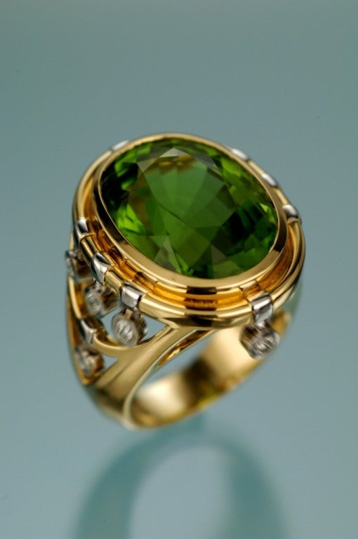 tamir playful peridot and ring in quot motion quot at 1stdibs