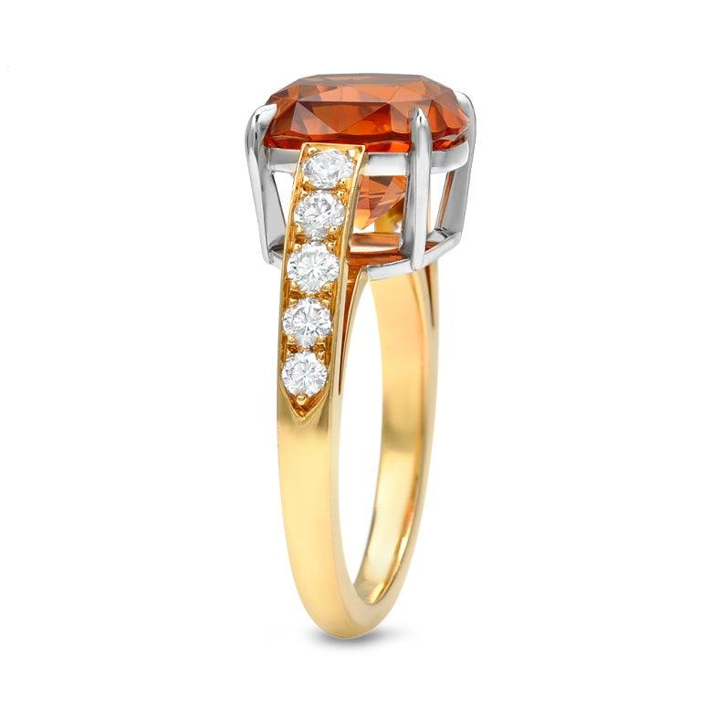 TAMIR Rare and Exquisite Mandarin Garnet and Diamond ring. 2