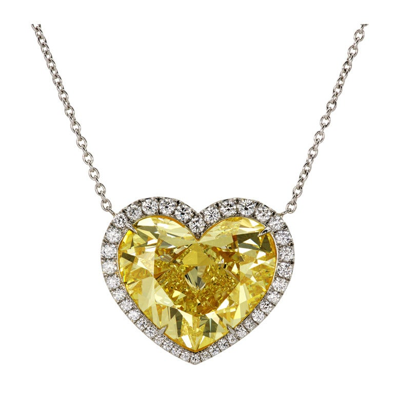 yellow diamond heart necklace - photo #45