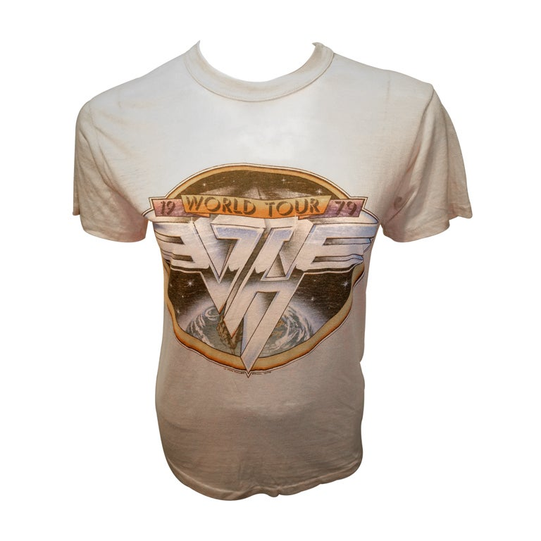 Van Halen Vintage World Tour 1979 Tee Shirt At 1Stdibs-4043