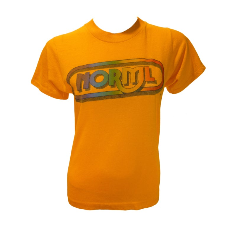 1970s Vintage NORML Logo Tee Shirt at 1stdibs