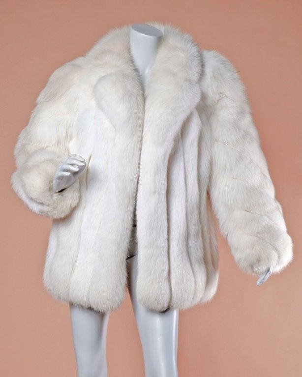 Pristine Finland Arctic Fox Fur Coat in Bright White 2