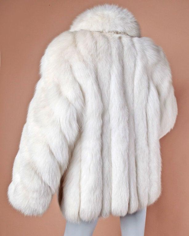 Pristine Finland Arctic Fox Fur Coat in Bright White 3