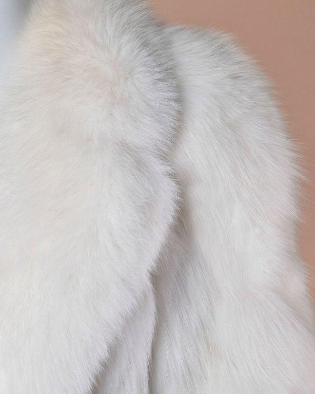Pristine Finland Arctic Fox Fur Coat in Bright White 4