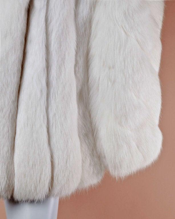 Pristine Finland Arctic Fox Fur Coat in Bright White 5