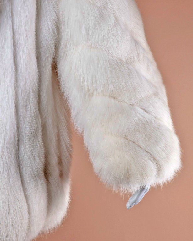 Pristine Finland Arctic Fox Fur Coat in Bright White 6