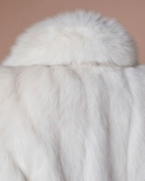 Pristine Finland Arctic Fox Fur Coat in Bright White 7