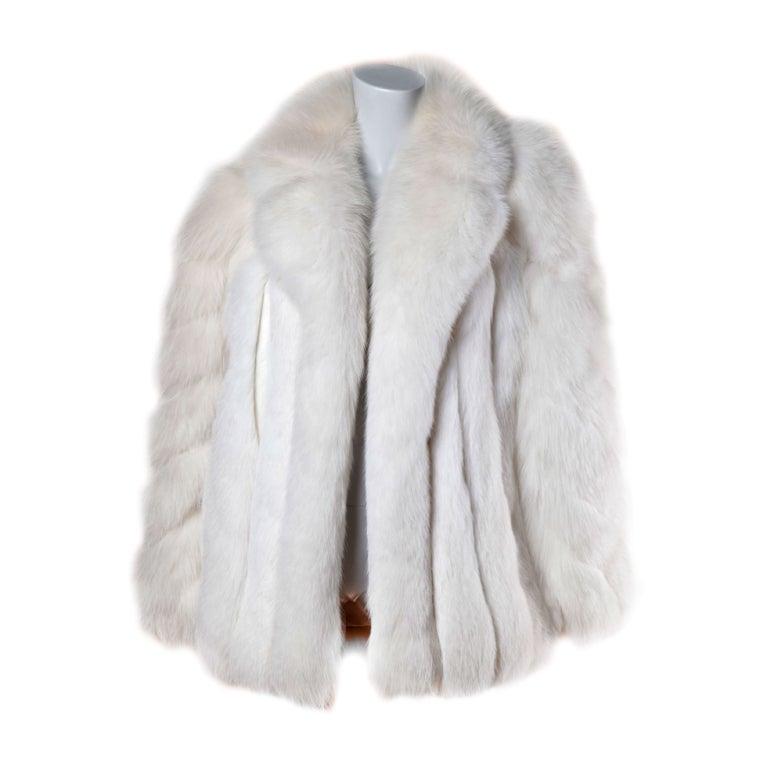 Pristine Finland Arctic Fox Fur Coat in Bright White 1