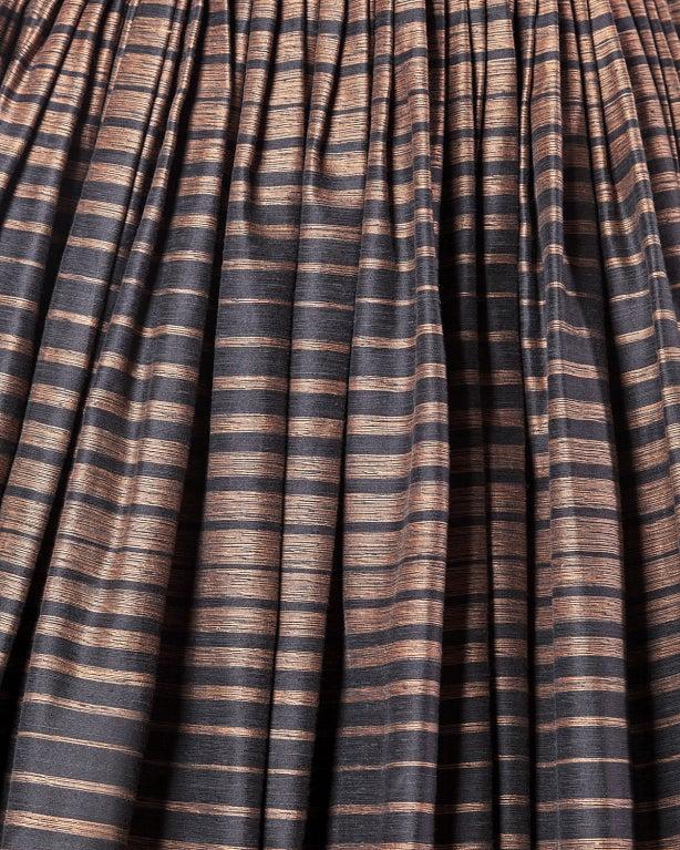 Suzy Perette Vintage 1950's Silk Two Tone Striped Party Dress 5