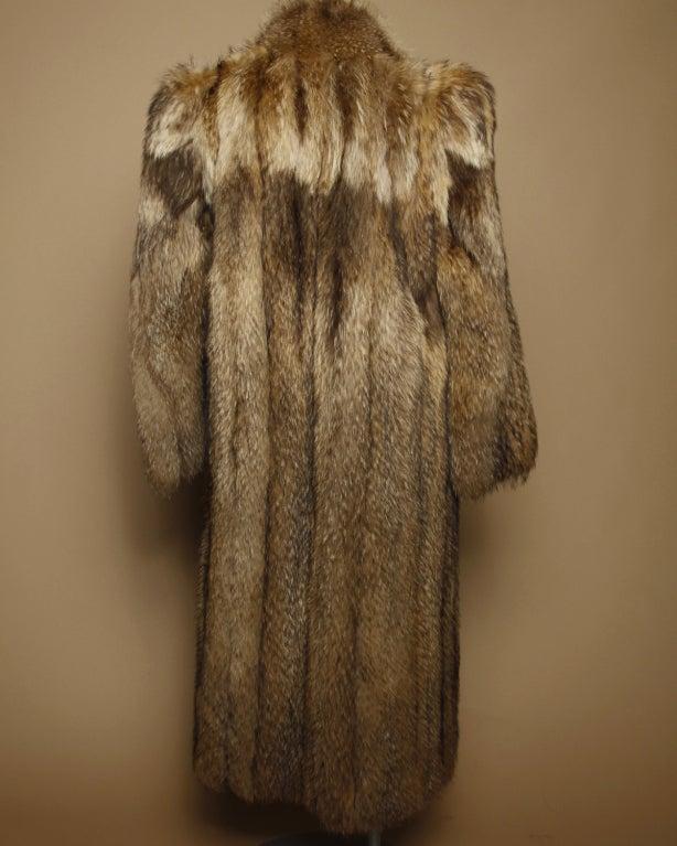 Vintage Tanuki Raccoon Fur Coat image 2