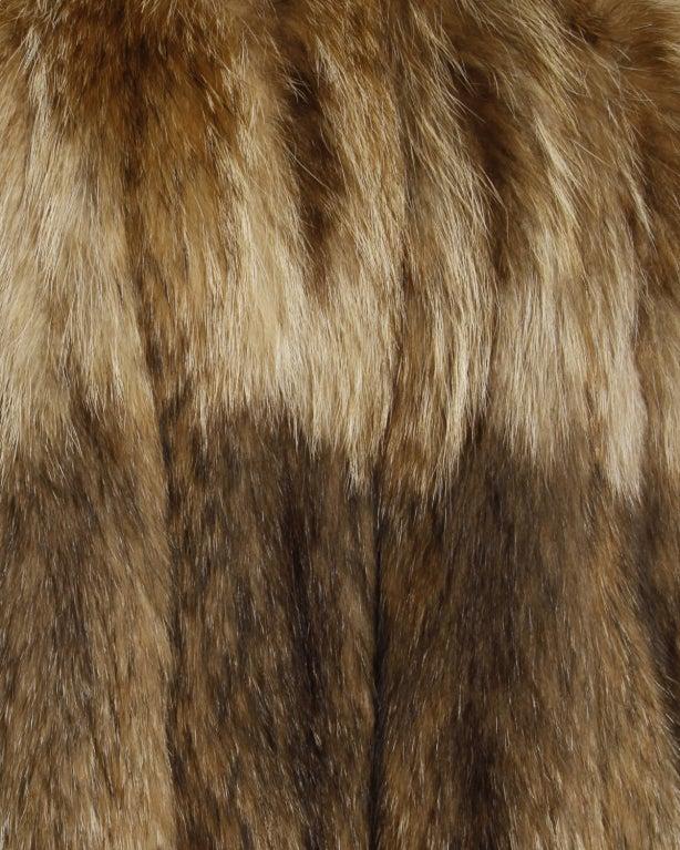 Vintage Tanuki Raccoon Fur Coat image 3