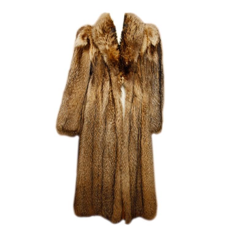 Vintage Tanuki Raccoon Fur Coat