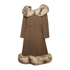 Gidding Jenny Wool + Fox Fur Princess Coat