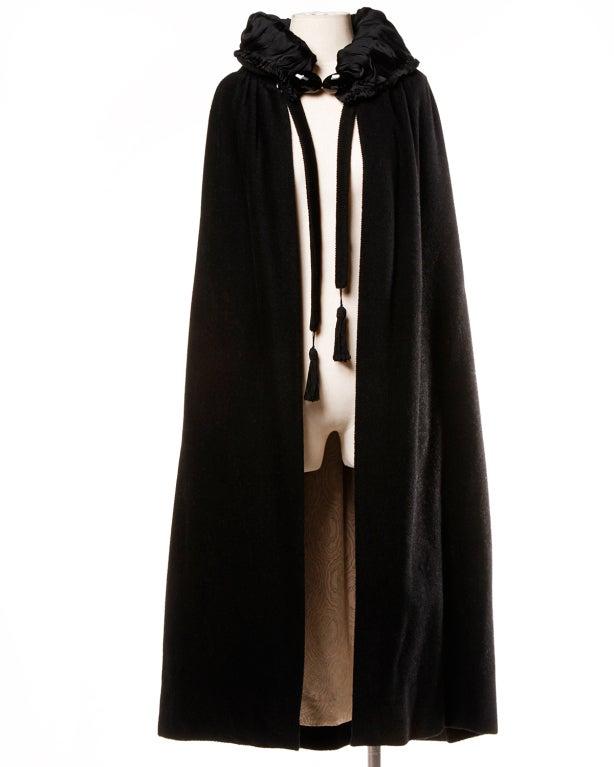 Antique Edwardian Opera Cape Coat w Origami Silk Collar + Lining 2