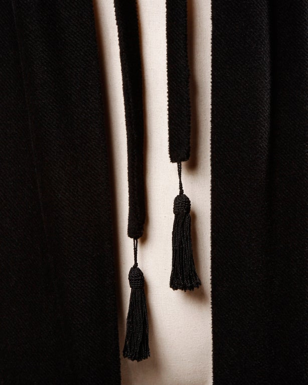 Antique Edwardian Opera Cape Coat w Origami Silk Collar + Lining 5