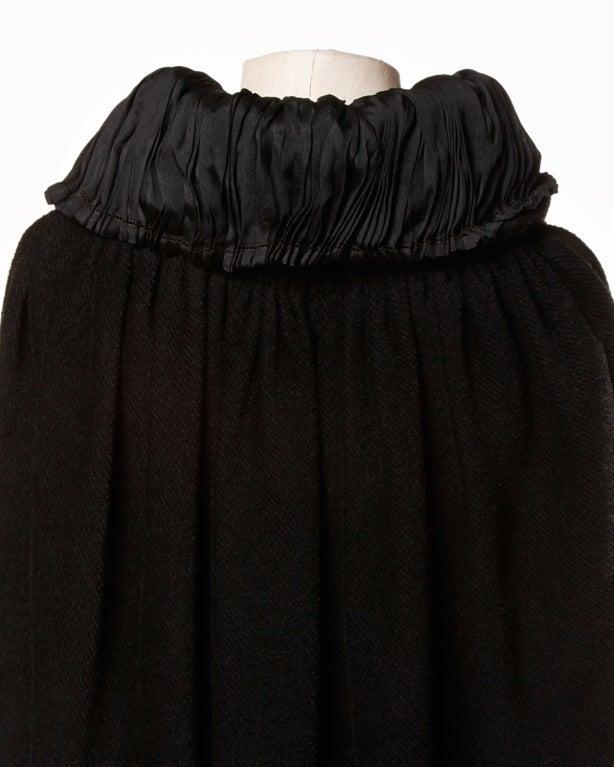 Antique Edwardian Opera Cape Coat w Origami Silk Collar + Lining 6