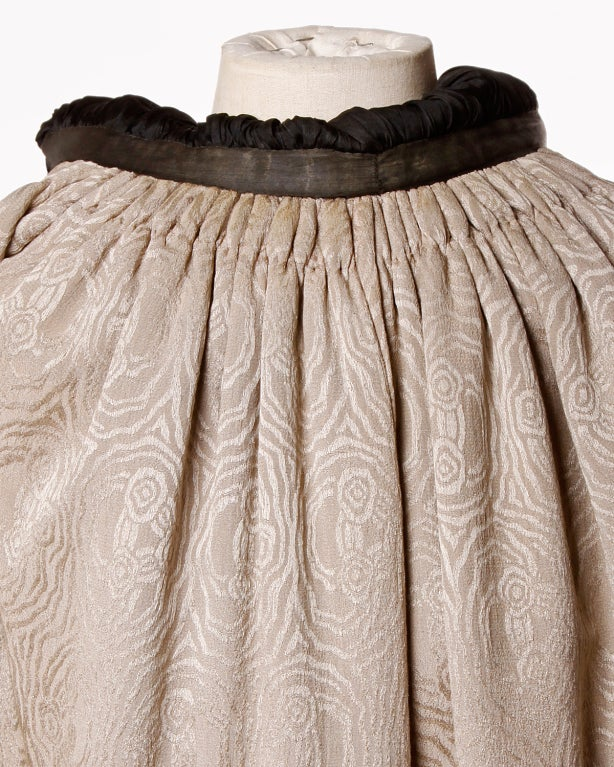 Antique Edwardian Opera Cape Coat w Origami Silk Collar + Lining 8