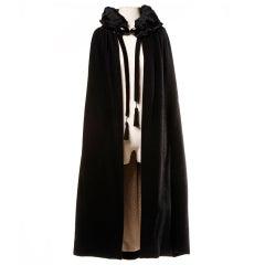 Antique Edwardian Opera Cape Coat w Origami Silk Collar + Lining