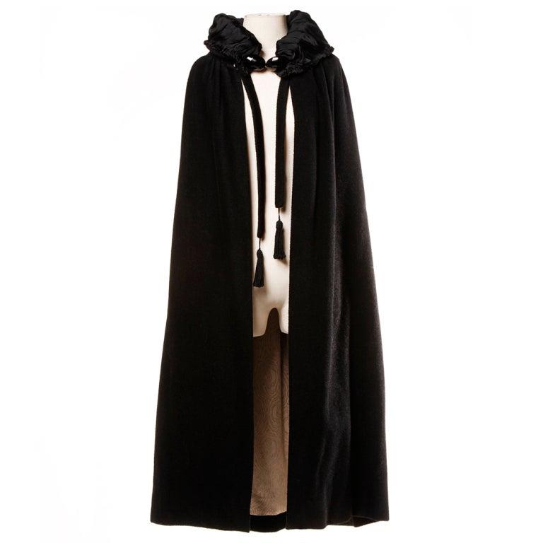 Antique Edwardian Opera Cape Coat w Origami Silk Collar + Lining 1