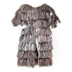 Bill Blass for Neiman Marcus Vintage Ostrich Feather Coat
