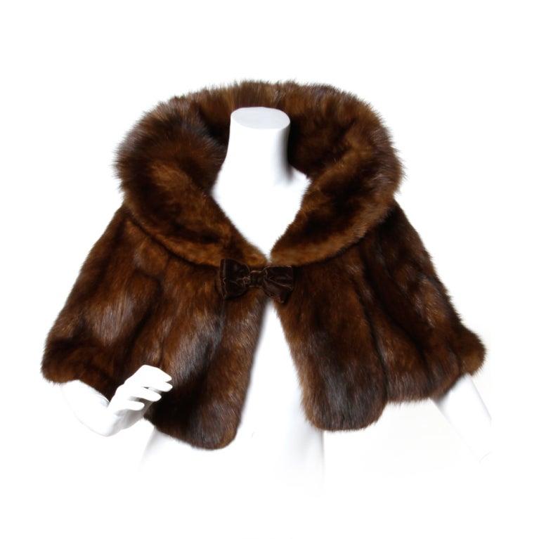 Pristine russian sable fur vintage stole at 1stdibs - Stoel fur ...