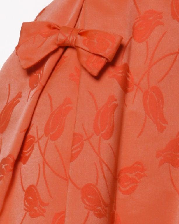 Vintage 1950's Suzy Perette Floral Tulip Print Red-Orange Dress 3