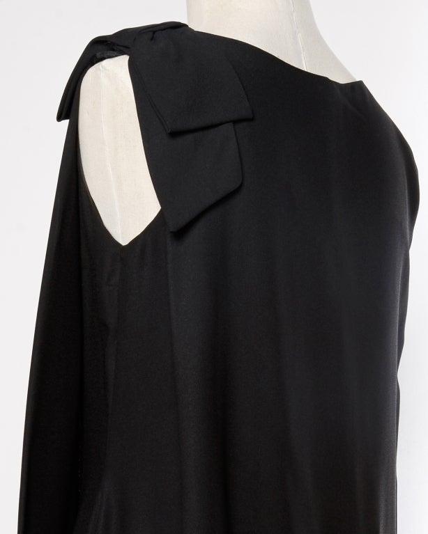 Vintage Black + White Maribou Feather 1960's Cocktail Dress 7