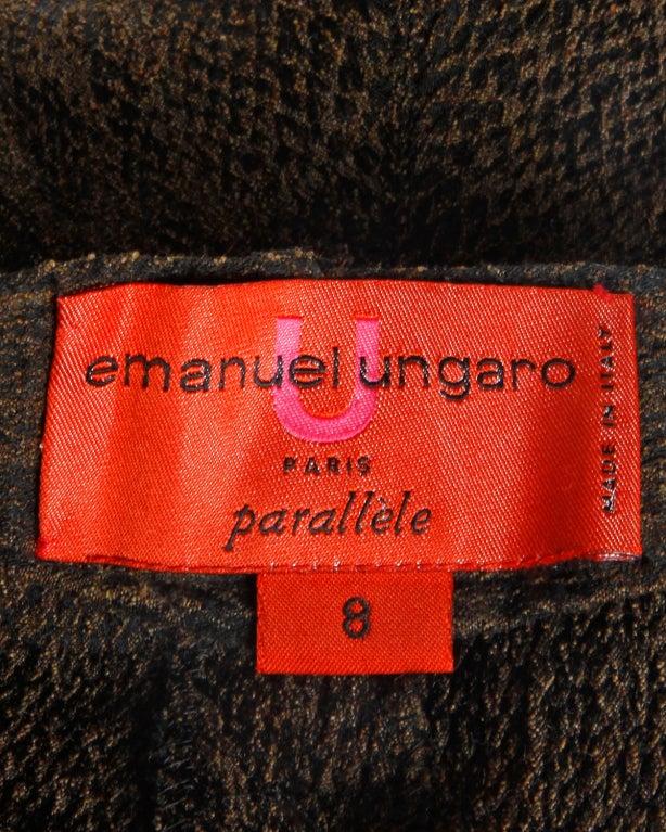 Emanuel Ungaro High Waisted 1990s Vintage Snakeskin Print Pants 6