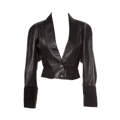 Michael Hoban North Beach Leather Vintage 1980's Leather Jacket