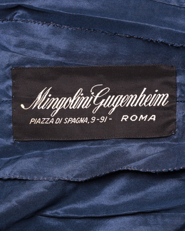 Couture Mingolini Gugenheim Vintage Beaded Dress+ Jacket For Sale 3