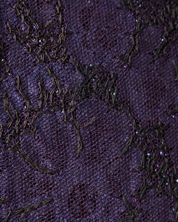 Couture Mingolini Gugenheim Vintage Beaded Dress+ Jacket For Sale 4