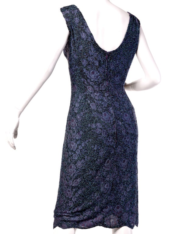 Couture Mingolini Gugenheim Vintage Beaded Dress+ Jacket In Excellent Condition For Sale In Sparks, NV