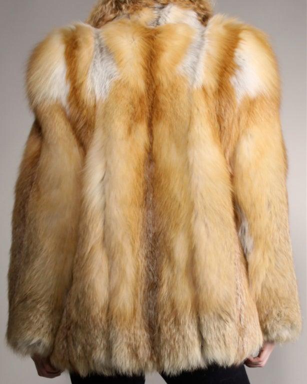 Vintage Silky Red Fox Fur Coat image 2