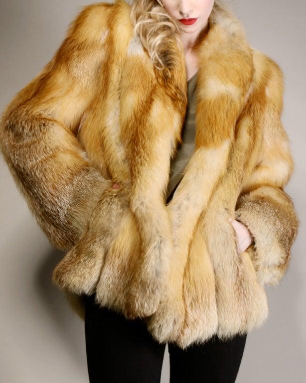 Vintage Silky Red Fox Fur Coat image 3