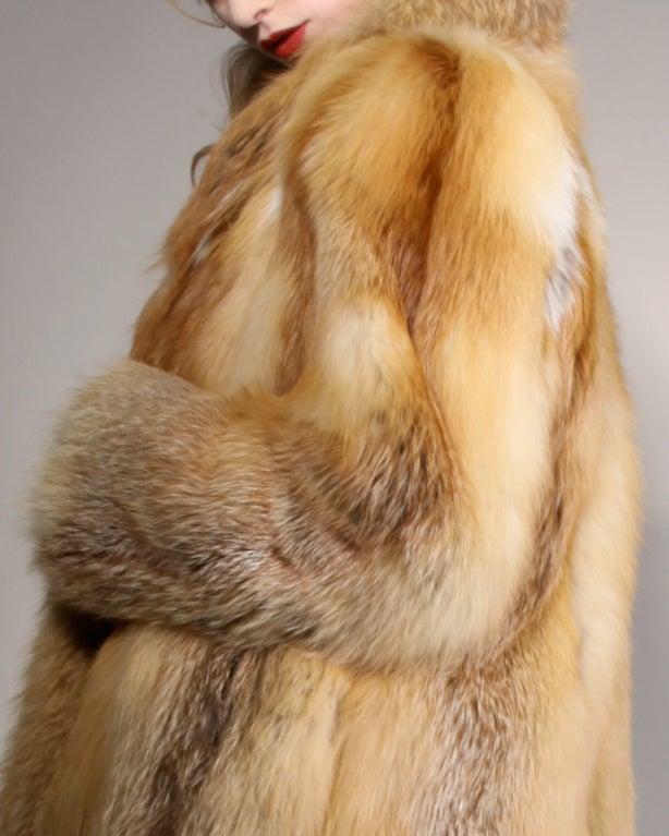 Vintage Silky Red Fox Fur Coat image 4