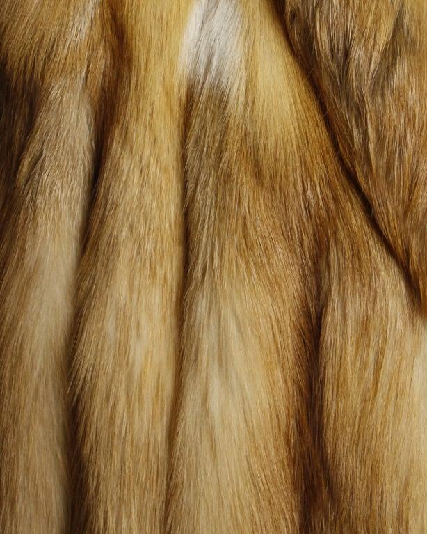 Vintage Silky Red Fox Fur Coat image 5