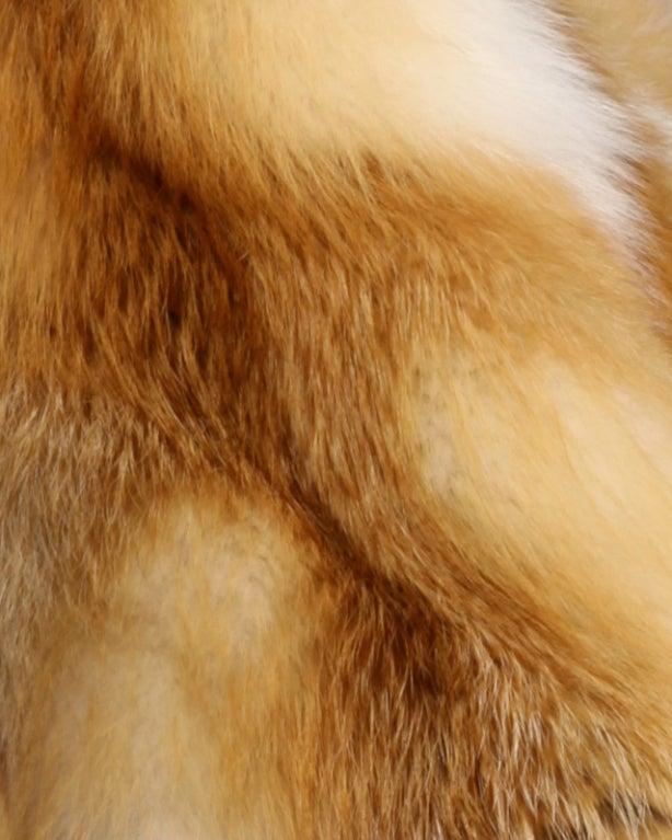 Vintage Silky Red Fox Fur Coat image 6