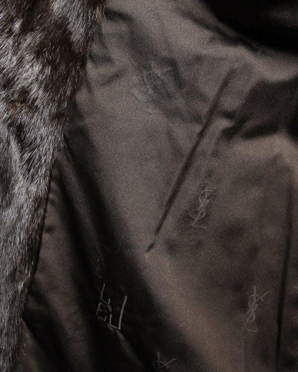 Ysl Vintage Flawless Yves Saint Laurent Mink Fur Coat At