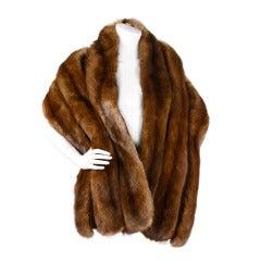 """Sable Fur Wrap- Long Vintage 75"""" Stole"""