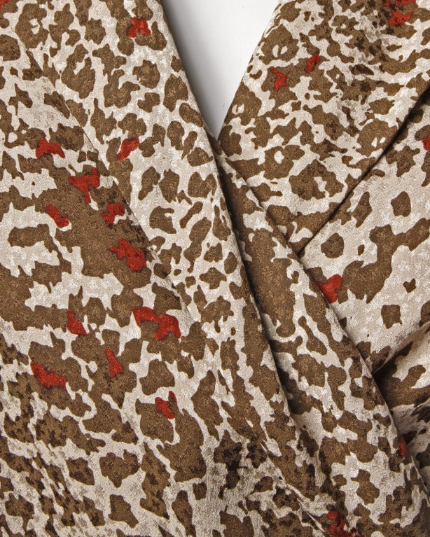 Women's Lanvin Silk Print Wrap Top Blouse Vintage 80s 1980s For Sale