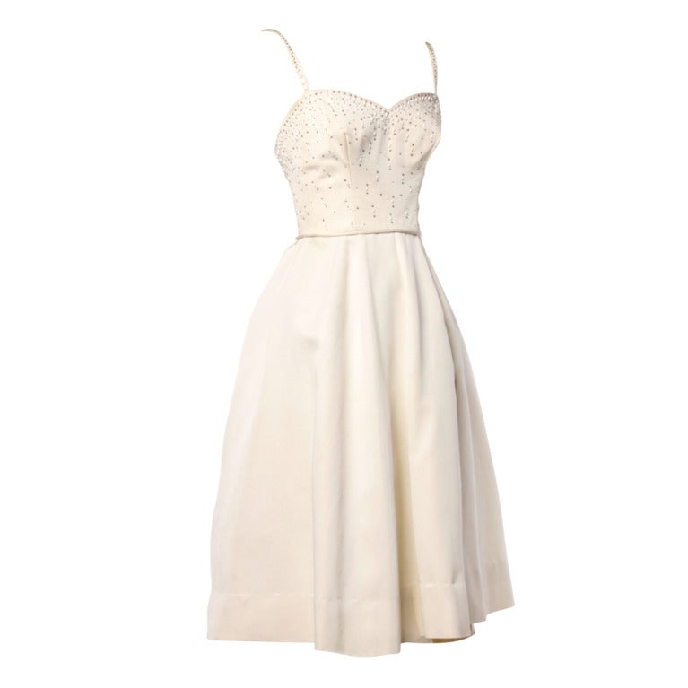 White Party Dresses 1950s