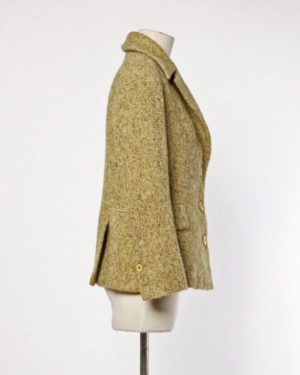 Women's Guy Laroche Collection Mustard Wool Tweed Jacket