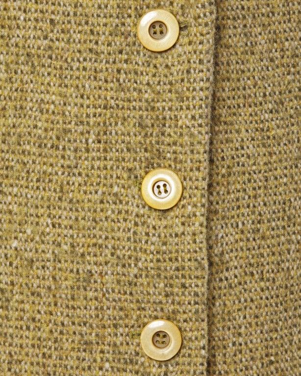 Guy Laroche Collection Mustard Wool Tweed Jacket 1