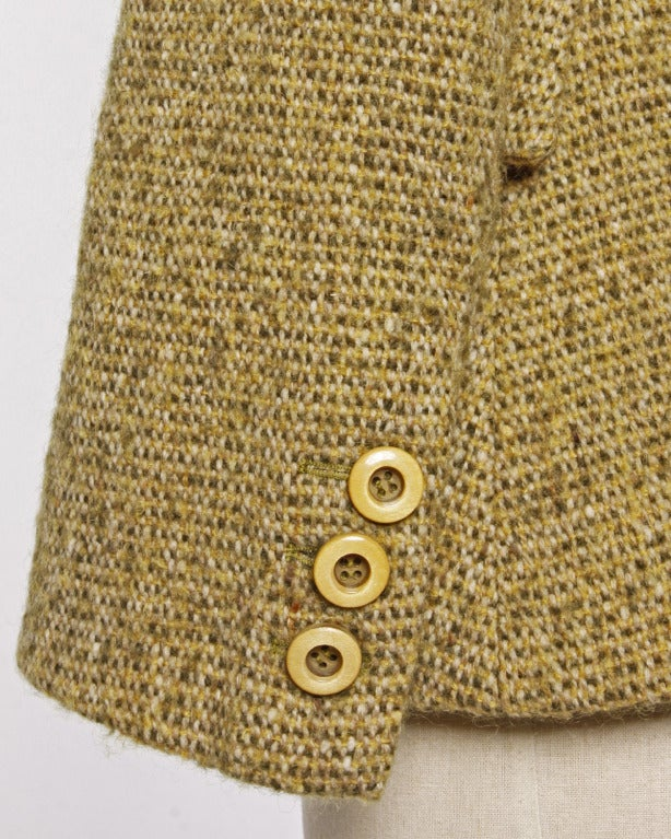 Guy Laroche Collection Mustard Wool Tweed Jacket 2