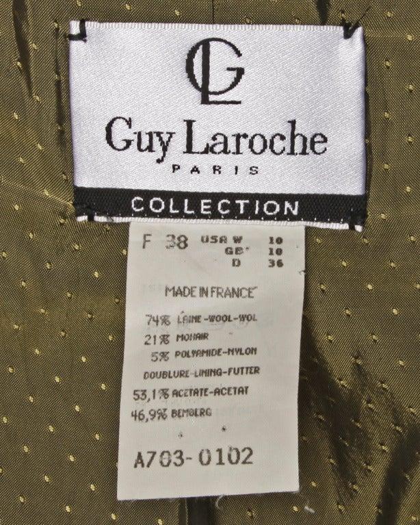 Guy Laroche Collection Mustard Wool Tweed Jacket 4