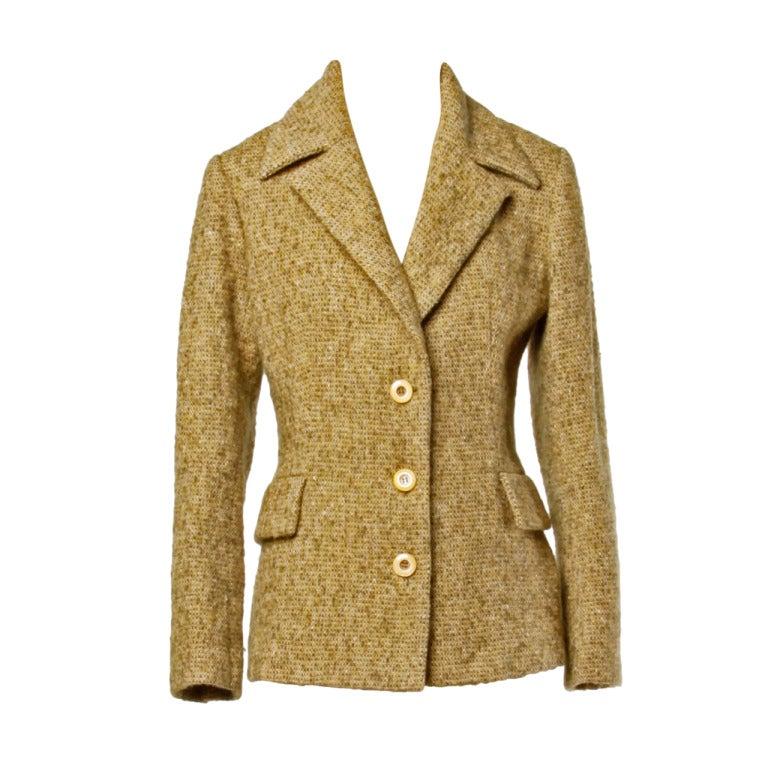Guy Laroche Collection Mustard Wool Tweed Jacket