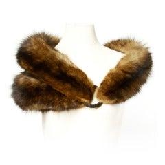 """Luxurious Sable Fur Wrap- Long Vintage 41"""" Stole / Fling"""
