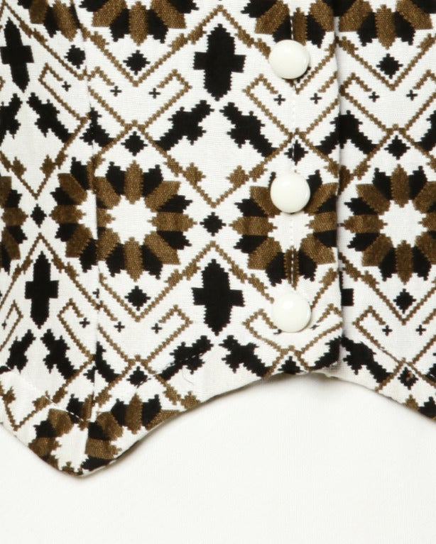 Lilli Ann 70s Vintage Tapestry Coat + Dress Set- 2-Pc Ensemble For Sale 5